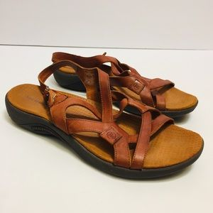 Merrell Brown Leather Sandals. Size 9